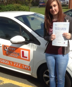 Mel passed First time witha perfect Drive! No Faults!
